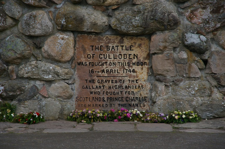 Memorial Plaque Culloden Battlefield