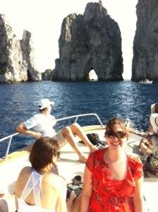 Sarah and I at famous rocks of Capri