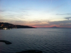 Sunset over Sorrento