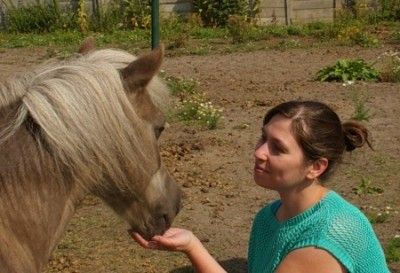 Me and one of my horses