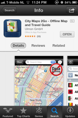 CityMaps2Go in Itunes Store
