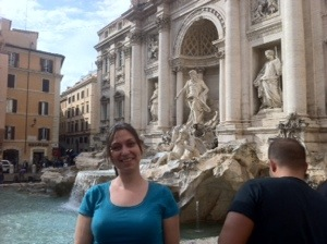 Me at Trevi fountain