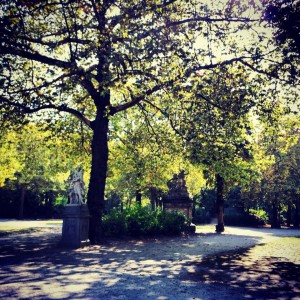 The Park across the Royal Palace, Brussels Belgium