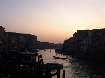 Sunset in Venice, Rialto Bridge